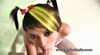 Thai teen, Condom, Thai creampie, Teen thai