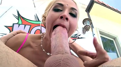 Deepthroat, Big ass anal, Chubby anal, Deep anal, Chubby blonde, Ass lick
