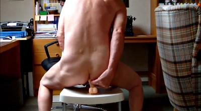 Ride dildo, Mature riding, Man gay