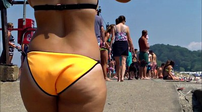 Beach, Booty, Candid, West, Candid ass, Voyeur ass