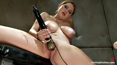 Chubby, Machine orgasm, Busty girl