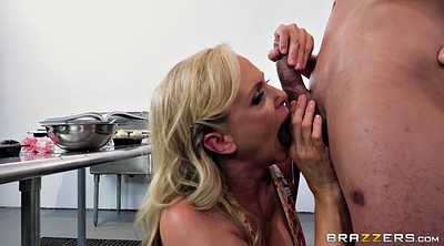 Julia ann, Julia, Ann, Ball sucking, Milf kitchen