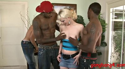 Cherry torn, Big black cock, Torn, Gangbang interracial, Cherry