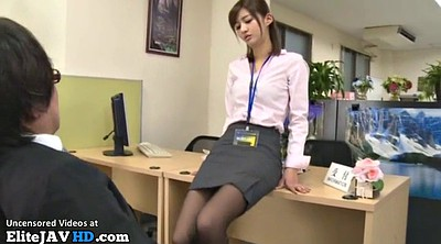 Japanese pantyhose, Japanese massage, Japanese masturbation, Nylon footjob, Boss, Asian footjob