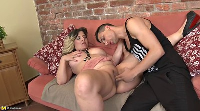 Bbw mature, Plumper, Blonde cumshot