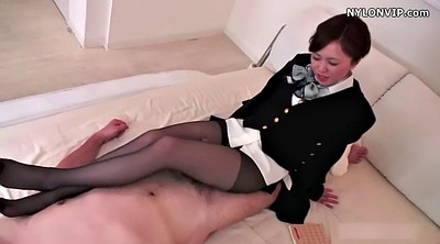 Pantyhose, Nylon, Nylon feet, Pantyhose feet, Japanese black, Nylon footjob