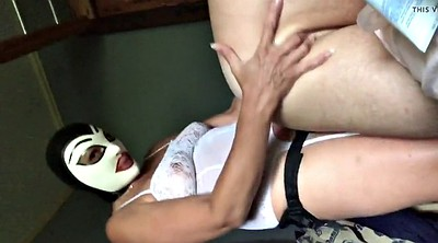Pegging, Pegged, Masked, Latex mask, Husband strapon