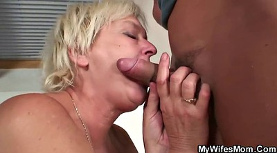 Taboo, Old and young, Old mom, Blonde mom