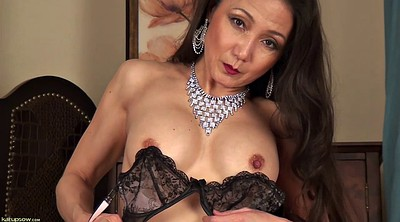 Skinny milf, Asian milf solo