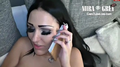 Phone, Teen gangbang, Interracial gangbang, While phone, Talking, On phone