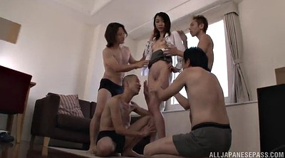 Asian gangbang, Hairy pussy