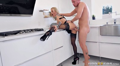 Sarah jessie, Heels, High, Stockings fuck, Standing, Stock