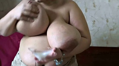 Tits milking, Squeeze, Big milk