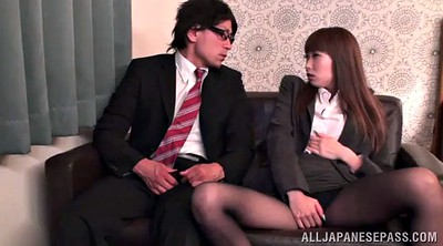 Pantyhose fuck, Office asian