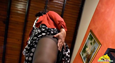 Granny latina, Close up, Pussy close up, Latina mature