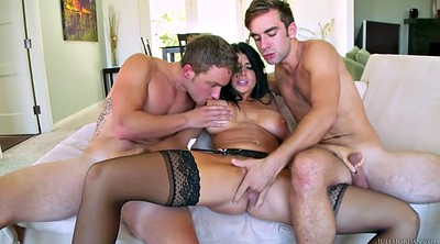 Threesome, Seduce, Servant, Young lady, Big lady