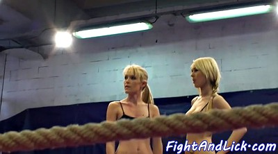 Oral, Fight, Boxing, Lesbian fight, Box, Ring