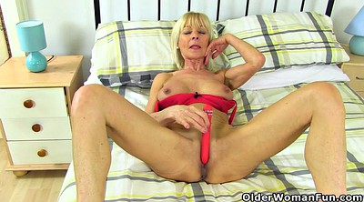 Nylon granny, Elaine, Clothed sex, British mature