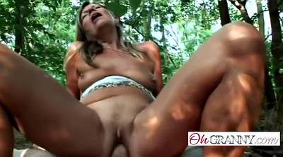Big penis, Mature outdoor