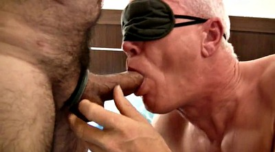 Gay group, Blindfolded, Buttplug