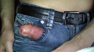 Jeans, Huge cum, In jeans, Huge load