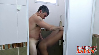 Asian mature, Young anal, Bathing