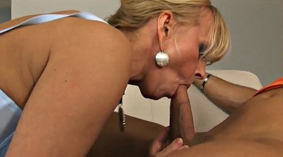 Young and old, Strap, German mother, Young mother, Milf mother