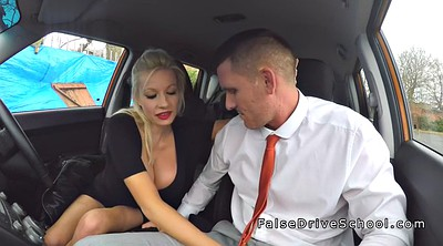 Public, Big, Big boobs, Huge boobs, Examination, Driving