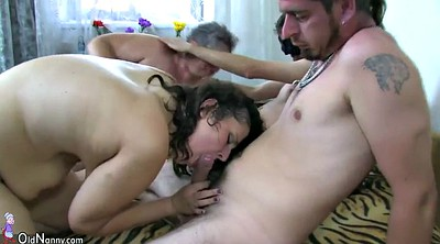 Matures, Young chubby, Old lady, Old threesome