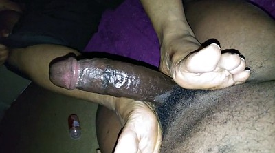 Ebony, Black foot, Black feet, Black footjob