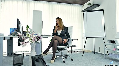 Hot office, Office masturbation, Office pantyhose