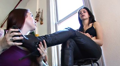 Boot, Pants, Pant, Lesbian femdom, Leather boots, Leather pants