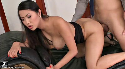 Girl, Asian office, Boss office, Big tits doggy, Big boss