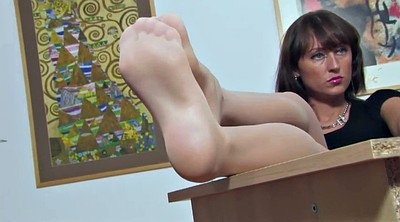 Nylon feet, Secretary, Nylon foot, Janet, Feet nylon