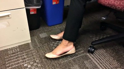 French, Candid, Office foot, Flat