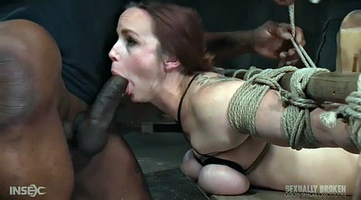 Tied, Rope, Ebony milf