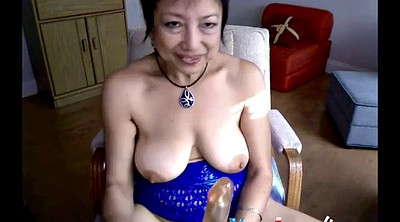 Asian granny, Granny webcam, Granny dildo masturbation