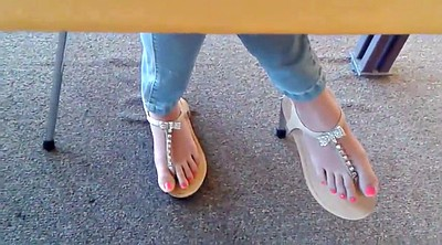 Asian foot, Sandals, Candid, Asian feet