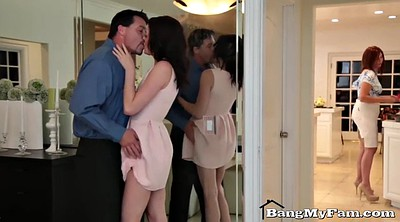 Step mom, Step dad, Mom blowjob, Mom daughter, Dad daughter, Big mom