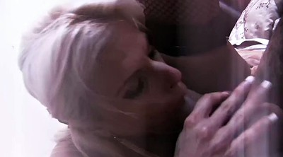 Cafe, Nylon fuck, Victoria, Threesomes, Nylon threesome, Nylon blowjob