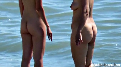 Beach, Big clit, Nudist