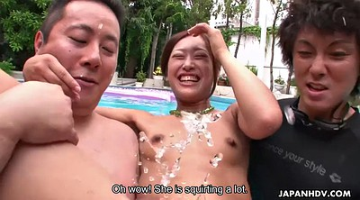 Hairy, Multiple orgasm, Japanese party, Japanese outdoor, Japanese bikini, Asian bikini