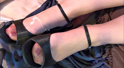 Stockings, Nylon feet, Shoes