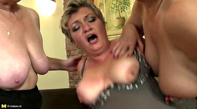 Mother, Granny group, Milf n boy, Mature group, Sharing cock, Lucky