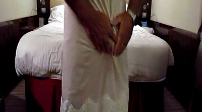 Gay, Nylon, Slip, Wife dress, Caught masturbation, Caught masturbating