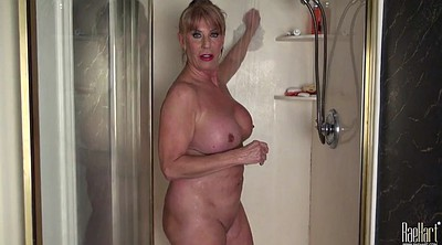 Shower, Sexy, Mature shower