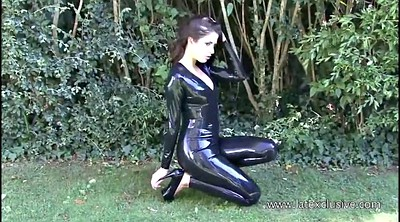 Latex, High heels, Rubber, Outdoors, High-heeled, Heels solo