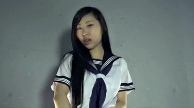 Japanese solo, Japanese schoolgirl, Skirt, Lift, Up skirt, Japanese long