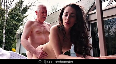 Old grandpa fuck, Teen pussy, Step sister, Old grandpa, Fuck sister, Cum swallow