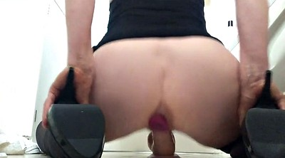 Ball, Dildo squirting, Milf squirt, Behind